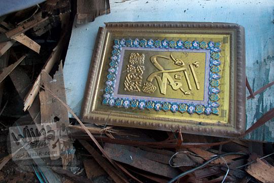 kaligrafi alquran di salah satu lapak pigura sagan