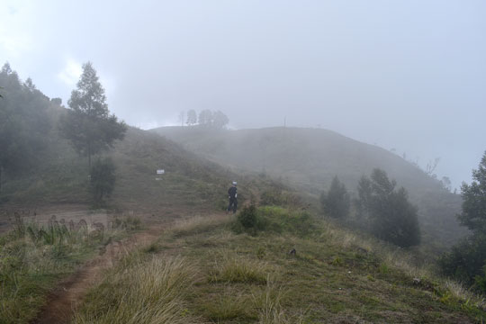 kabut padang rumput kawasan puncak gunung prau