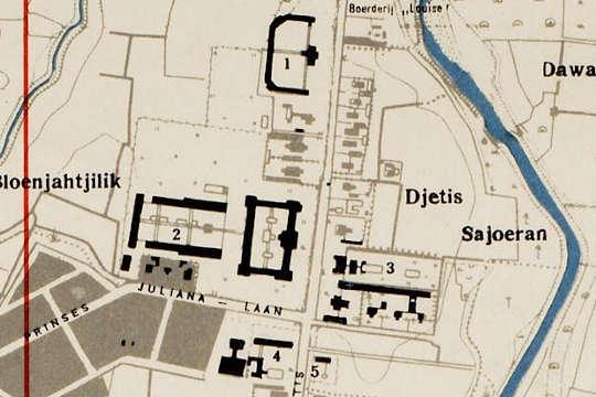 peta sekolah belanda kawasan jetis jogja 1945
