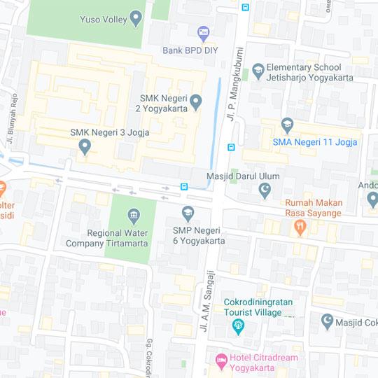 peta perempatan kecamatan jetis di kota jogja saat ini
