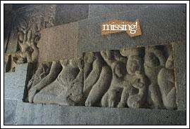Foto Arca Buddha di Candi Banyunibo tahun 2008