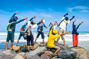 PEKOK Nyepeda ke Pantai Congot 170 km PP