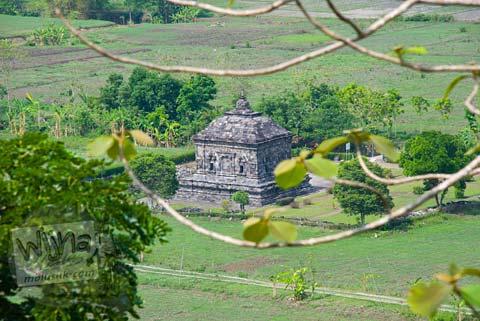 Foto Candi Banyunibo dilihat dari Candi Barong di tahun 2008