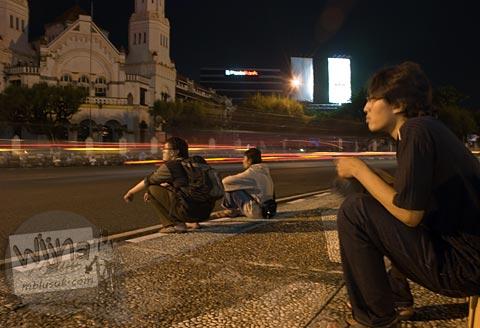 Foto Bundaran Tugu Muda di Semarang, Jawa Tengah pada November 2007