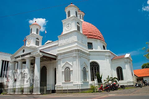 Foto Gereja Bleduk di Semarang, Jawa Tengah pada November 2007