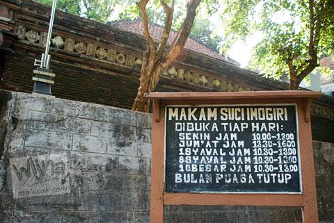 jam buka makam raja-raja imogiri, Yogyakarta di tahun 2009