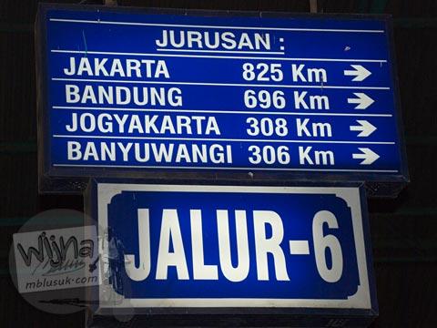 jarak tempuh dari surabaya menuju kota-kota besar di Jawa