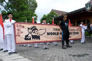 Kirab Pusaka Dunia OWHC di Kota Solo