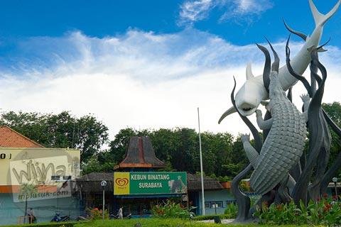 sejarah asal-usul patung hiu dan buaya Lambang kota Surabaya