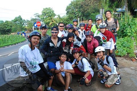 Sukses bersepeda menaklukkan tanjakan pathuk