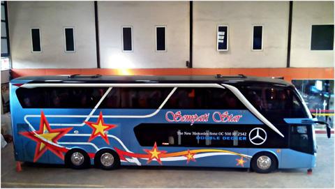 Foto bus sempati star double decker jurusan aceh medan