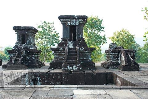 Foto Miniatur Candi di Keraton Ratu Boko, Prambanan pada Oktober 2008