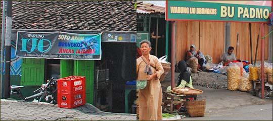 Bangunan Lokasi Bentuk Warung Ijo Jogja Pasar Pakem dan Pasar Turi