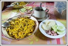 Mie Goreng Aceh Udang khas Rumah Makan Bungong Jeumpa Yogyakarta pada tahun 2008