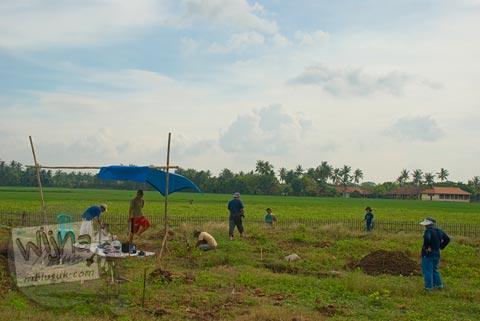 Foto situs segaran 2 di situs Batujaya, Karawang, Jawa Barat pada tahun 2009
