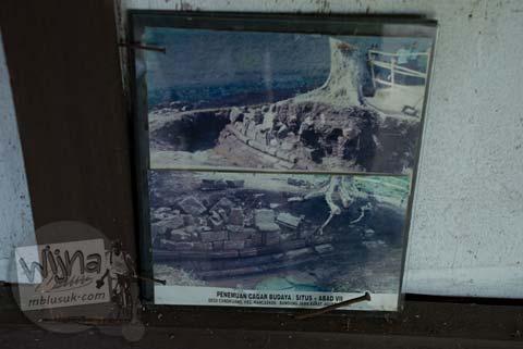 Foto lama bentuk penemuan Candi Bojongmenje, rancaekek, Bandung di tahun 2002
