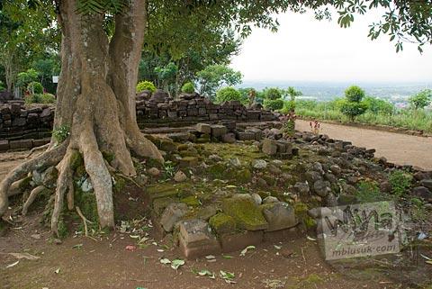 Pondasi bangunan kecil yang ada di situs Candi Gunungsari, Salam, Magelang pada tahun 2009