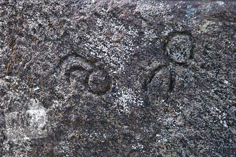 Simbol aneh yang ada di Candi Gunungsari, Salam, Magelang pada tahun 2009