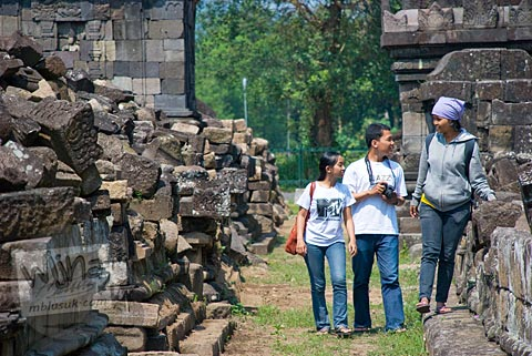 Foto fff di Candi Plaosan, Klaten, Jawa Tengah pada tahun 2008