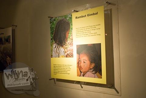 Foto mitos anak bajang rambut gimbal di Museum Dieng Kailasa, Banjarnegara tahun 2008