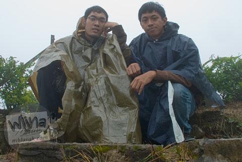 Musim Hujan deras di Candi Gedong Songo, Ambarawa Semarang, Jawa Tengah di tahun 2009