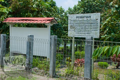 Foto papan nama tanpa tulisan Candi Kadisoka, Purwomartani, Kalasan, Sleman, Yogyakarta di tahun 2009