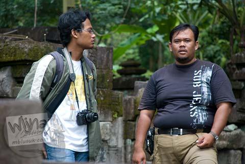 Foto Juru Kunci Candi Kedulan, Kalasan, Yogyakarta bernama Pak Didik petugas BP3 Yogyakarta pada Januari 2009