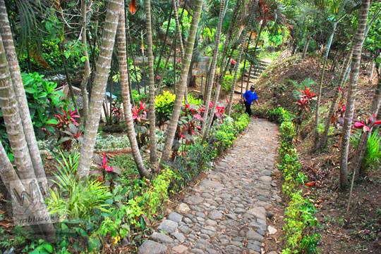 jalan taman asri menuju pemandian watugede malang di tahun 2011