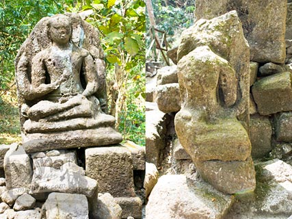 Foto arca Buddha di Situs Arca Gupolo, Sambirejo, Prambanan, Yogyakarta jaman dulu di tahun 2008