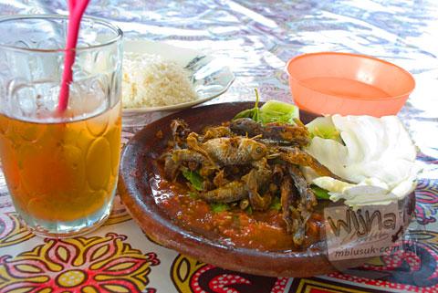 Sambel Wader makanan khas di Trowulan, Mojokerto, Jawa Timur