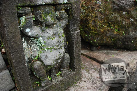 Foto relief gana di Candi Morangan, Sindumartani, Ngemplak, Yogyakarta di tahun 2009