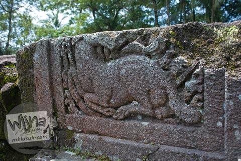 Foto relief Kancil di Candi Morangan, Sindumartani, Ngemplak, Yogyakarta di tahun 2009