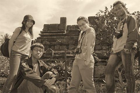Foto Agatha, Mbak Vinna, dan Andreas