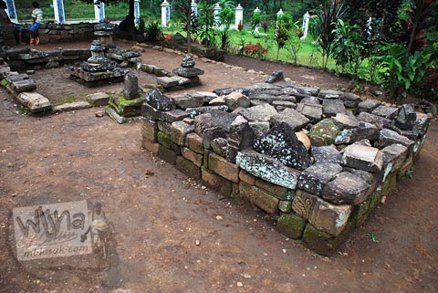 Reruntuhan Candi Ngempon di Ungaran, Jawa Tengah pada tahun 2010
