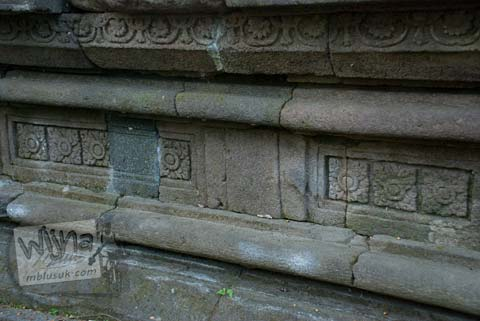 Foto relief tanaman Situs Sendang Pitu, Cepogo, Boyolali, Jawa Tengah pada Oktober 2009