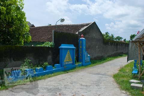 Foto gapura masuk di dusun Jobohan menuju Situs Watugudig, Prambanan tahun 2009