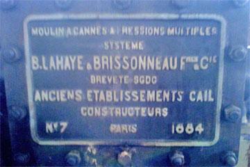 salah satu mesin di Pabrik gula Gondang Baru buatan Perancis tahun 1884 dan masih berfungsi hingga saat ini