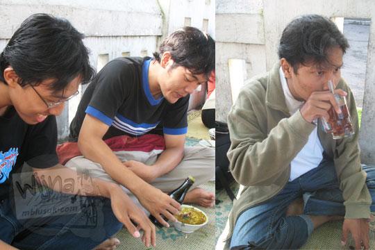 sarapan soto ayam pak gareng di luar bekas hotel tugu pada zaman dulu