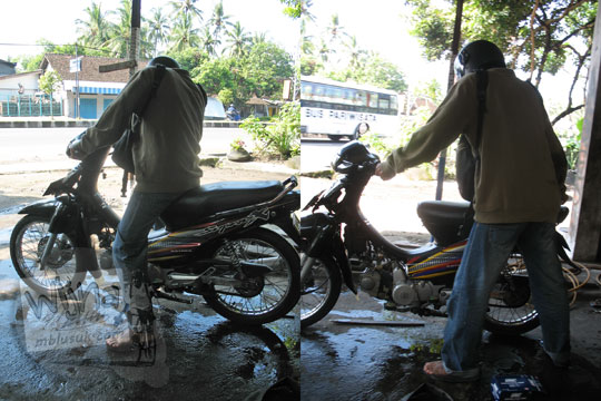 ban sepeda motor raditya panji umbara bocor