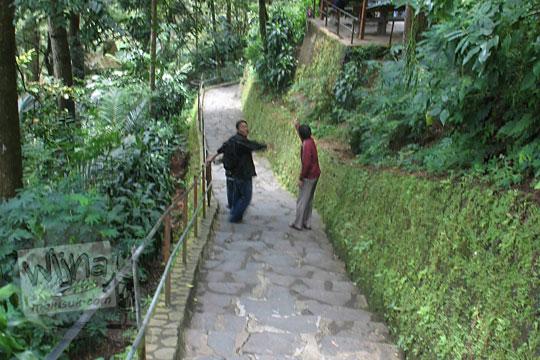 jalan sepi di kawasan wisata grojogan sewu