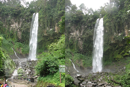 pemandangan indah air terjun grojogan sewu di tawangmangu pada zaman dulu