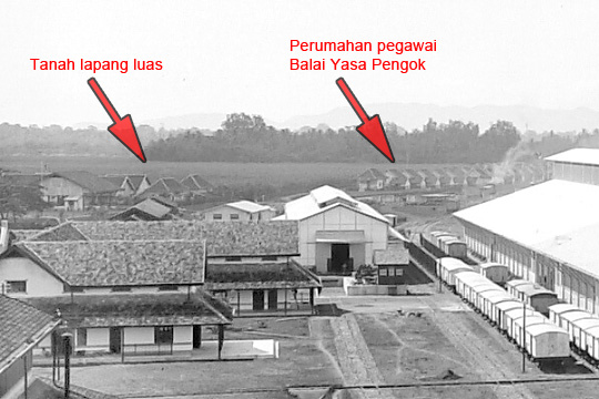 lapangan pacuan balap kuda langensari dilihat dari balai yasa pengok yogyakarta pada tahun 1925