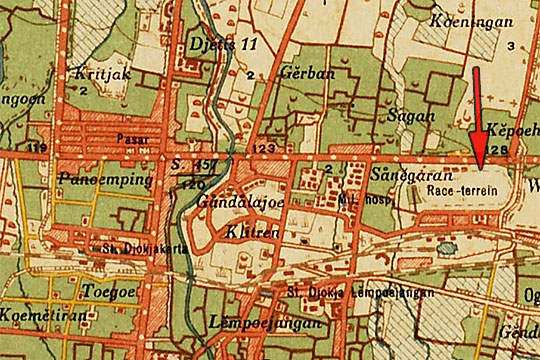 peta wilayah lempuyangan yogyakarta pada tahun 1920
