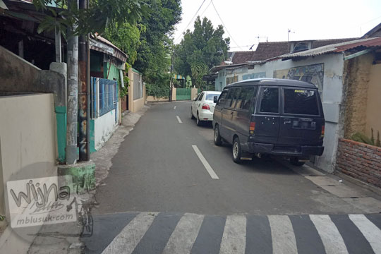 pemukiman di sepanjang jalan balapan klitren gondokusuman kota yogyakarta