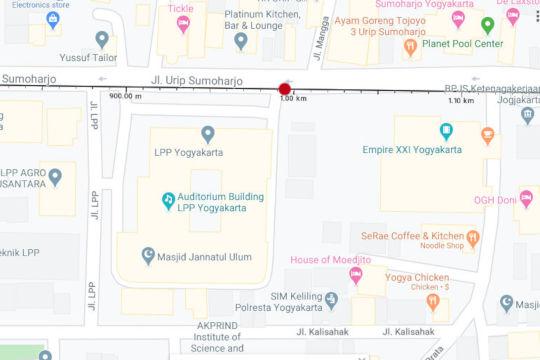 metode ukur jarak kilometer jogja solo km 4 dengan google maps