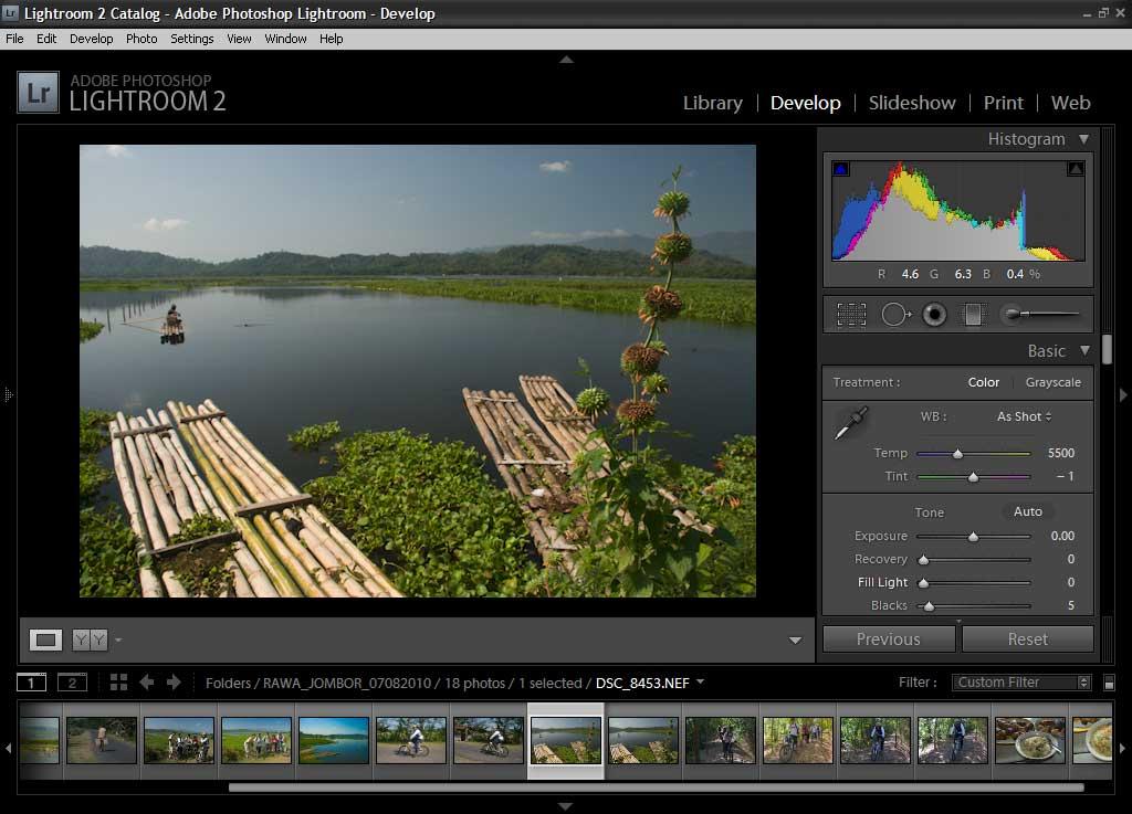motret software aplikasi raw converter nef cr2 srw adobe photohosop editing lightroom darkroom saturation vibrance level dslr jpeg