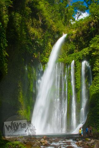Air terjun Tiu Kelep di gunung Rinjani, Nusa Tenggara Barat tahun 2009