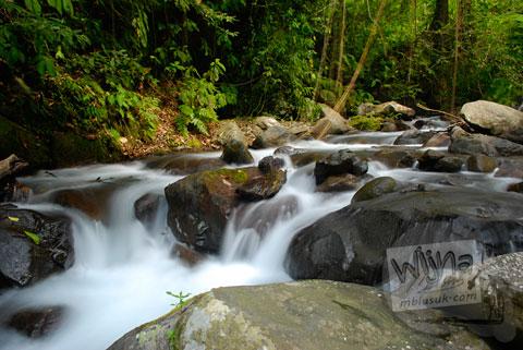 Sungai di kaki gunung Rinjani, Nusa Tenggara Barat tahun 2009