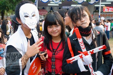 Foto cosplay anime bleach di Jak-Japan Matsuri tahun 2009 di Lapangan Monas, Jakarta