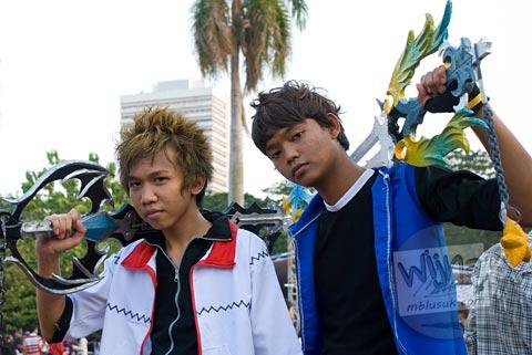 Foto cosplay kingdom hearts di Jak-Japan Matsuri tahun 2009 di Lapangan Monas, Jakarta